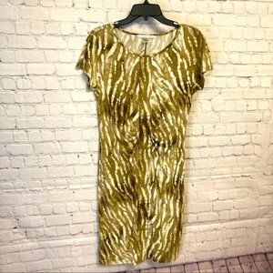 Peter Nygard camo jersey dress size S